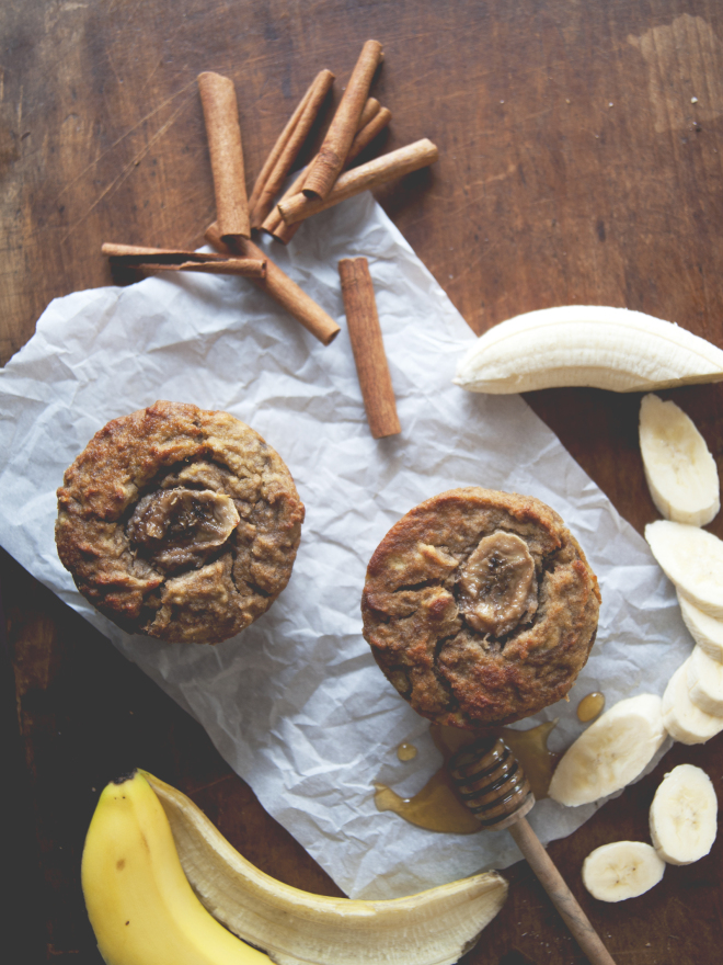 Jumbo Banana Muffins // Sweet Laurel