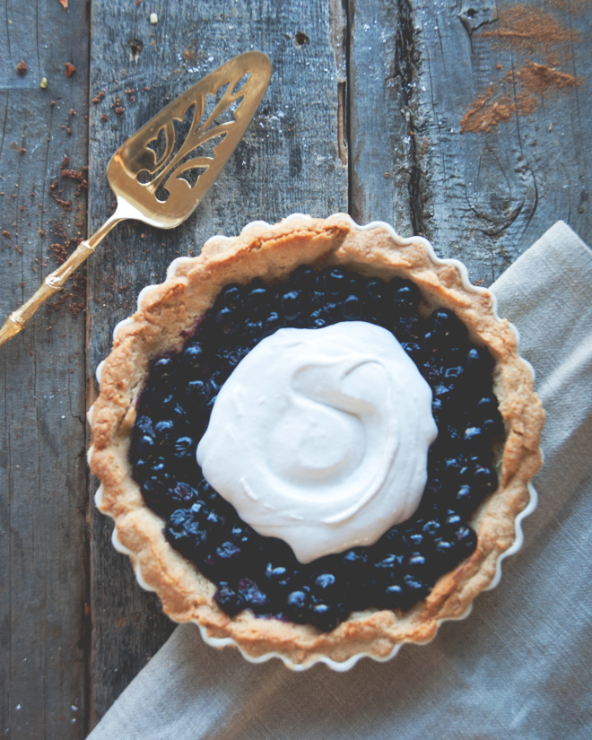 Blueberry Cream Pie // Sweet Laurel