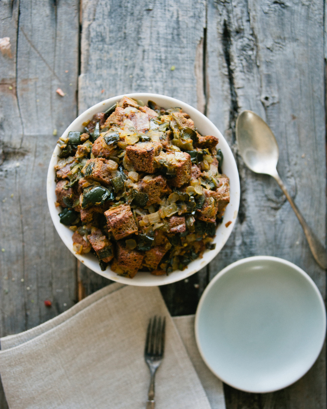 Herbed Turmeric Stuffing // Sweet Laurel
