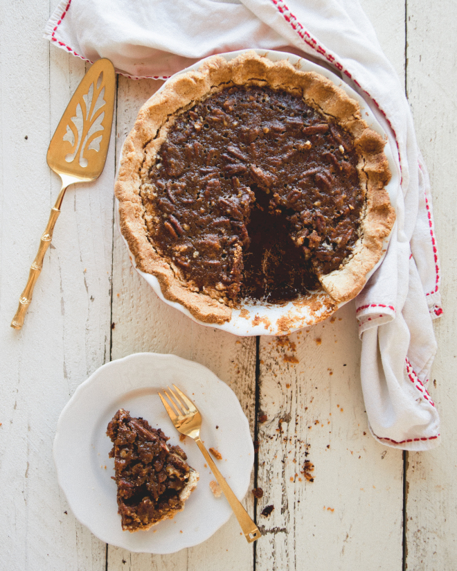 Date Pecan Pie // Sweet Laurel