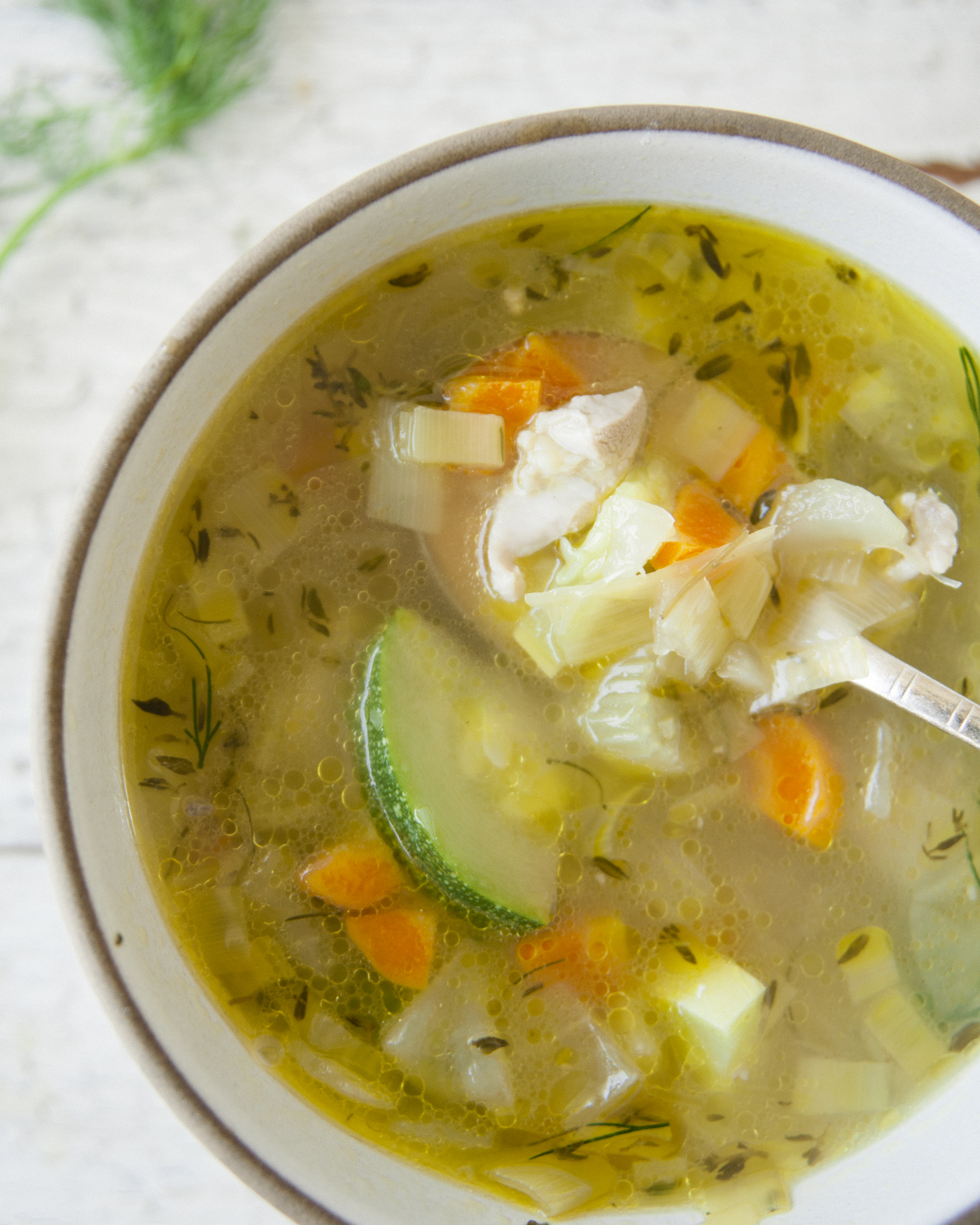 Homemade Chicken Vegetable Soup \ Sweet Laurel