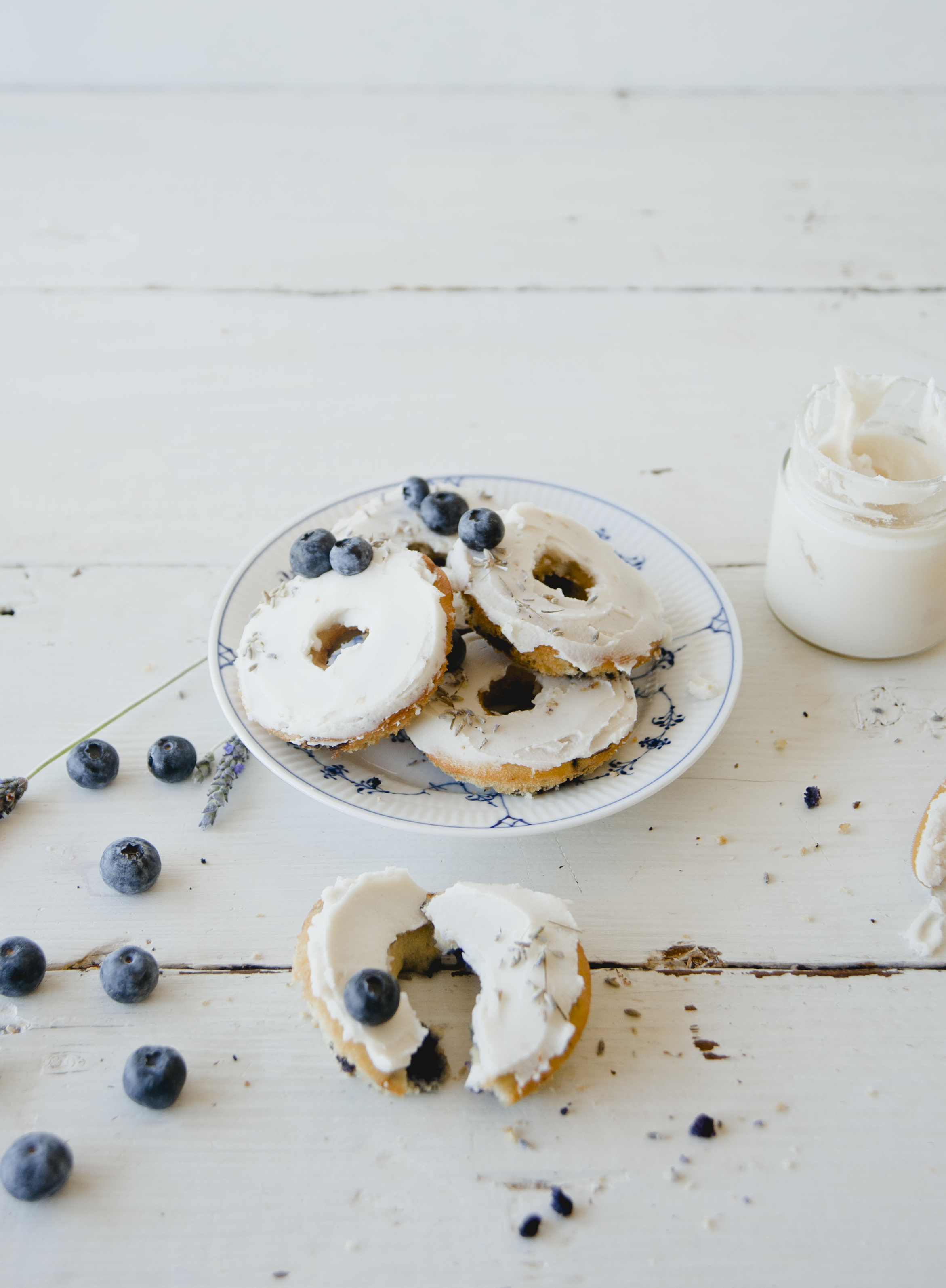 Blueberry Lavender Donuts \ Sweet Laurel