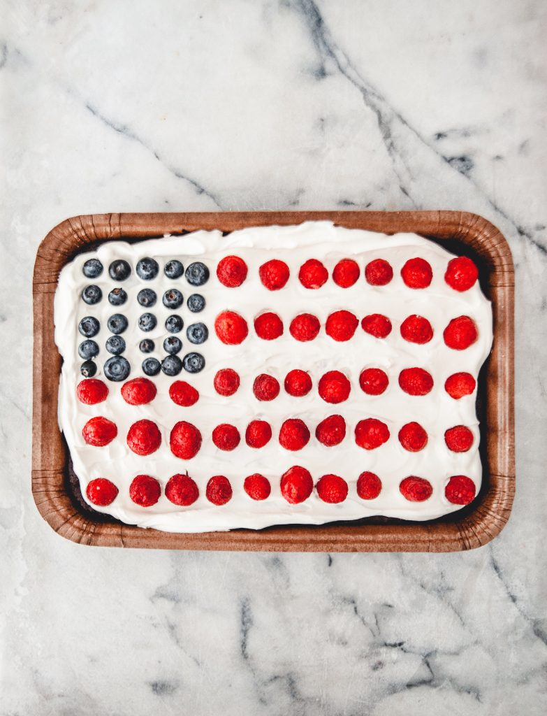Sweet Laurel Brownie Flag Cake