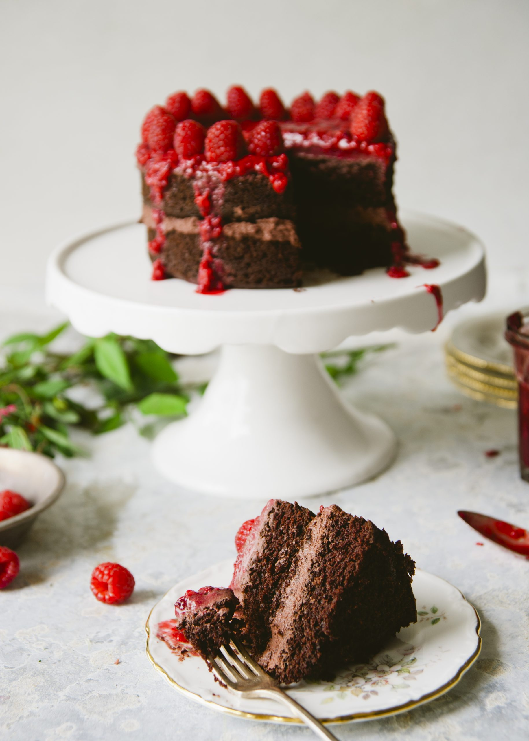 Sweet Laurel Chocolate Raspberry Truffle Cake